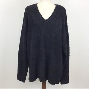 Sanctuary 3X Sweater Back V-Neck Knit